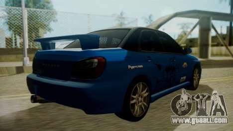 Subaru Impreza WRX GDA for GTA San Andreas engine