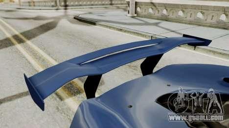 McLaren P1 GTR v1.0 for GTA San Andreas inner view