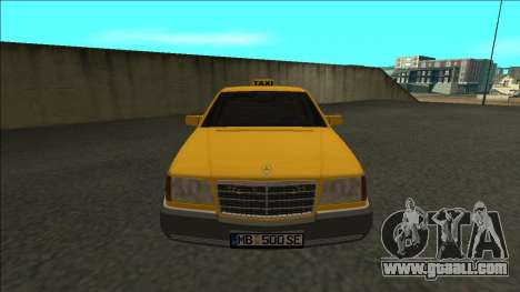 Mercedes-Benz W140 500SE Taxi 1992 for GTA San Andreas right view