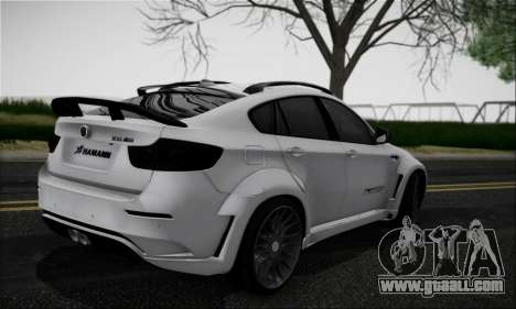 BMW X6M HAMANN Final for GTA San Andreas right view
