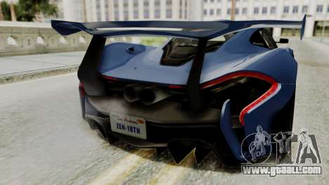 McLaren P1 GTR v1.0 for GTA San Andreas back view