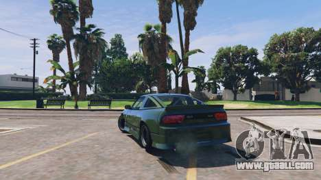 GTA 5 Nissan 240sx v1.0 rear left side view