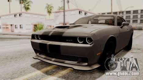 Dodge Challenger SRT Hellcat 2015 HQLM for GTA San Andreas interior