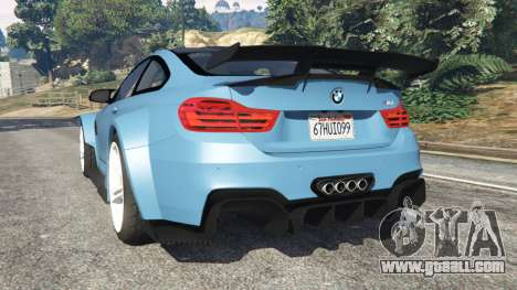 GTA 5 BMW M4 (F82) WideBody rear left side view