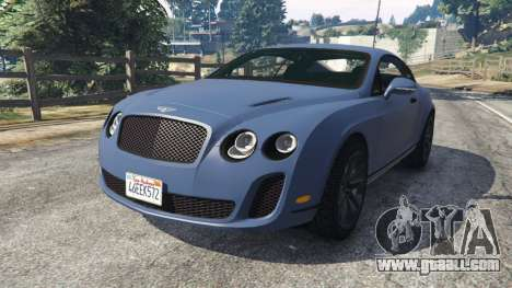 Bentley Continental Supersports [Beta2] for GTA 5