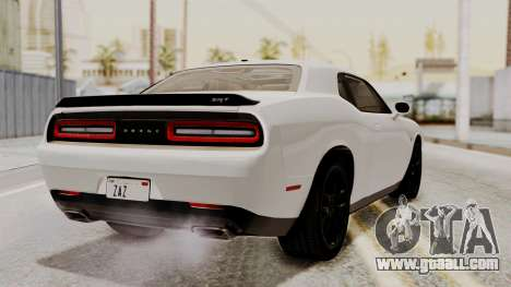 Dodge Challenger SRT Hellcat 2015 HQLM PJ for GTA San Andreas left view