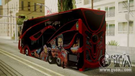 Bus Iron Man for GTA San Andreas left view
