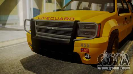 GTA 5 Declasse Granger Lifeguard IVF for GTA San Andreas inner view