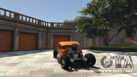GTA 5 Ford Pickup HoTrod 1936 right side view