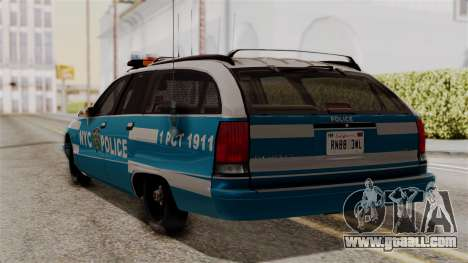 Chevy Caprice Station Wagon 1993-1996 NYPD for GTA San Andreas left view