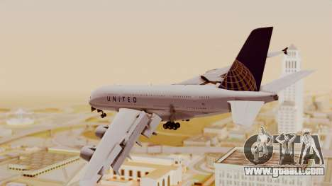 Airbus A380-800 United Airlines for GTA San Andreas left view