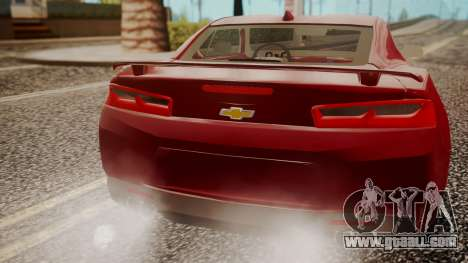 Chevrolet Camaro SS 2016 for GTA San Andreas right view