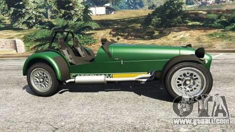 GTA 5 Caterham Super Seven 620R v1.5 [green] left side view