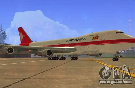 Boeing 747-200 Air Lanka for GTA San Andreas left view