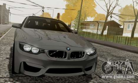 BMW M4 F82 for GTA San Andreas inner view
