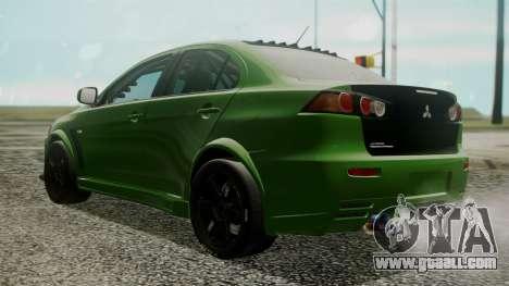 Mitsubishi Lancer Evolution X WBK for GTA San Andreas left view
