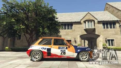 GTA 5 Renault 5 GT Turbo Rally left side view
