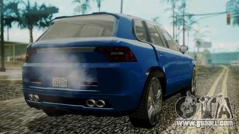 GTA 5 Obey Rocoto IVF for GTA San Andreas left view