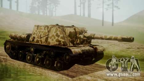 ISU-152 Panther Desert from World of Tanks for GTA San Andreas