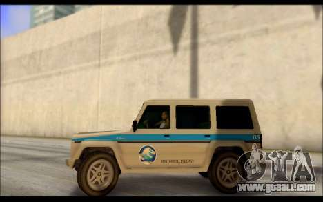 Benefactor Dubsta Jurassic World Paintjob for GTA San Andreas left view