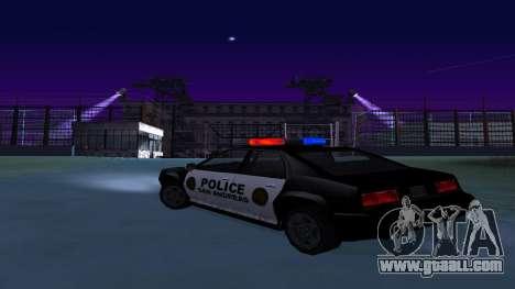 Four police Buffalo for GTA San Andreas back left view