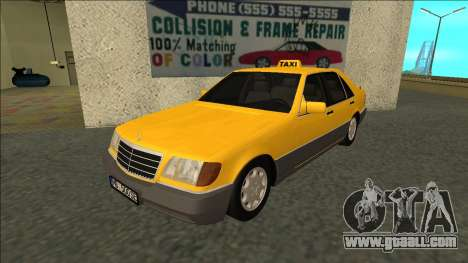 Mercedes-Benz W140 500SE Taxi 1992 for GTA San Andreas