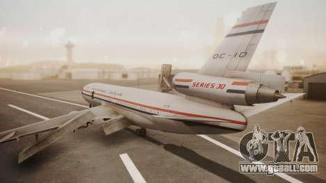 McDonnell-Douglas DC-10 Prototype N1339U for GTA San Andreas left view