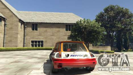 GTA 5 Renault 5 GT Turbo Rally rear left side view