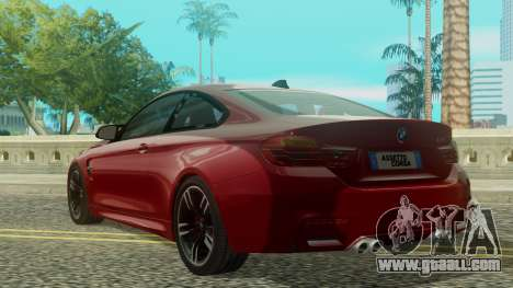 BMW M4 Coupe 2015 for GTA San Andreas left view