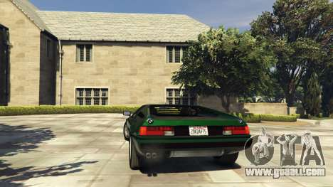 GTA 5 BMW M1 1979 (E26) v1.9.1 rear left side view