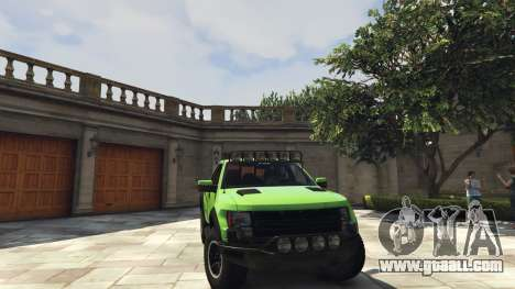 GTA 5 Ford F150 SVT Raptor 2012 v2.0 rear right side view