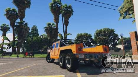 GTA 5 Hummer H1 6X6 v2.3 rear left side view