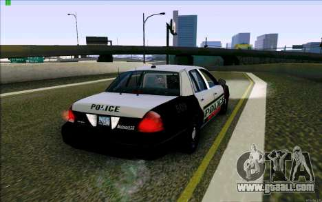 Weathersfield Police Crown Victoria for GTA San Andreas right view