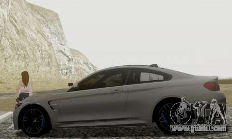 BMW M4 F82 for GTA San Andreas left view