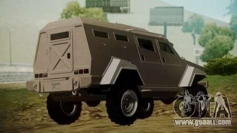 GTA 5 HVY Insurgent for GTA San Andreas left view