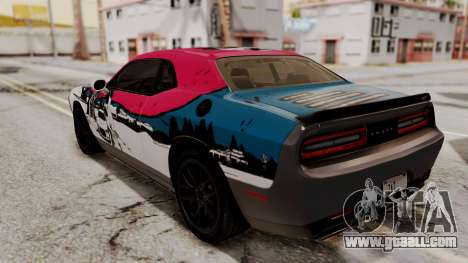 Dodge Challenger SRT Hellcat 2015 HQLM for GTA San Andreas side view
