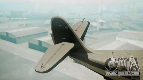 Grumman G-21 Goose Black and White for GTA San Andreas back left view