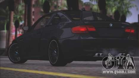 BMW M3 E92 2008 for GTA San Andreas interior