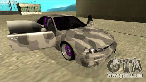 Nissan Silvia S14 Army Drift for GTA San Andreas side view