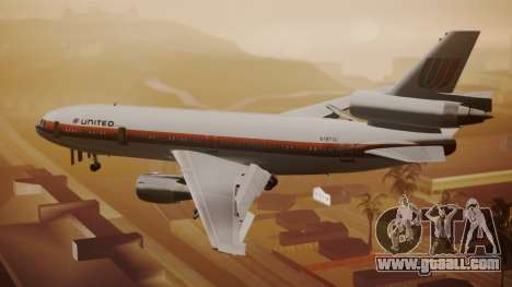 DC-10-10 United Airlines (80s Livery) for GTA San Andreas left view