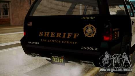 GTA 5 Declasse Granger Sheriff SUV IVF for GTA San Andreas side view