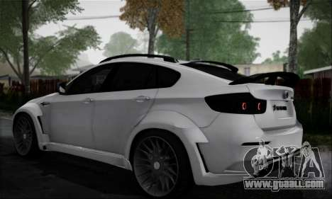 BMW X6M HAMANN Final for GTA San Andreas back left view