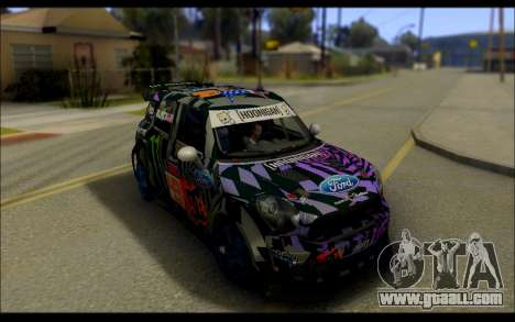 Mini Cooper Gymkhana 6 with Drift Handling for GTA San Andreas back left view