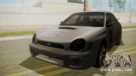 Subaru Impreza WRX GDA for GTA San Andreas inner view