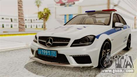 Mercedes-Benz C63 AMG STSI the Ministry of inter for GTA San Andreas