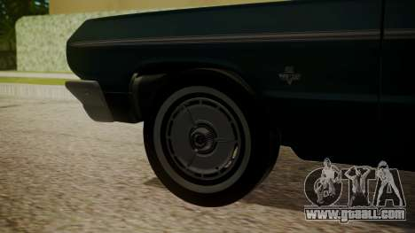 Chevrolet Impala SS 1964 Low Rider for GTA San Andreas back left view