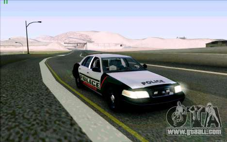 Weathersfield Police Crown Victoria for GTA San Andreas left view
