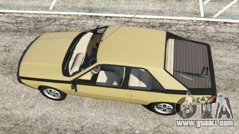 GTA 5 Renault Fuego 1980 back view