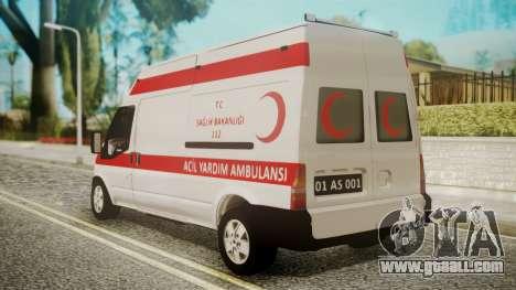 Ford Transit Jumbo Ambulance for GTA San Andreas left view