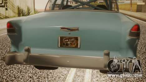 Chevrolet Bel Air Gasser for GTA San Andreas back view
